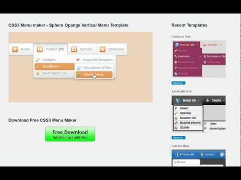css menu maker generate awesome menus free youtube
