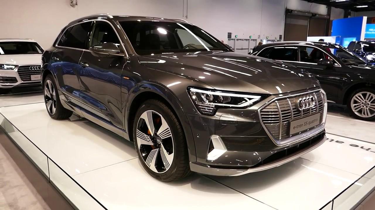 new 2019 audi e-tron 55 quattro electric vehicle - exterior tour walk around