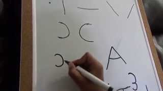 Teach your kids  Alphabets with Basic Strokes