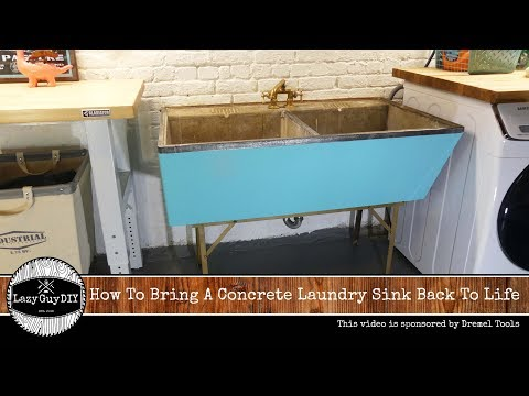 How To Bring A Concrete Laundry Sink Back To Life