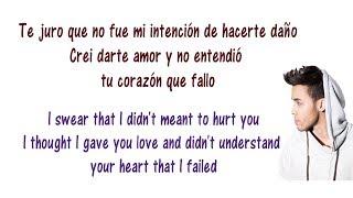 Te Me Vas - Prince Royce - Lyrics English and Spanish - Transl…