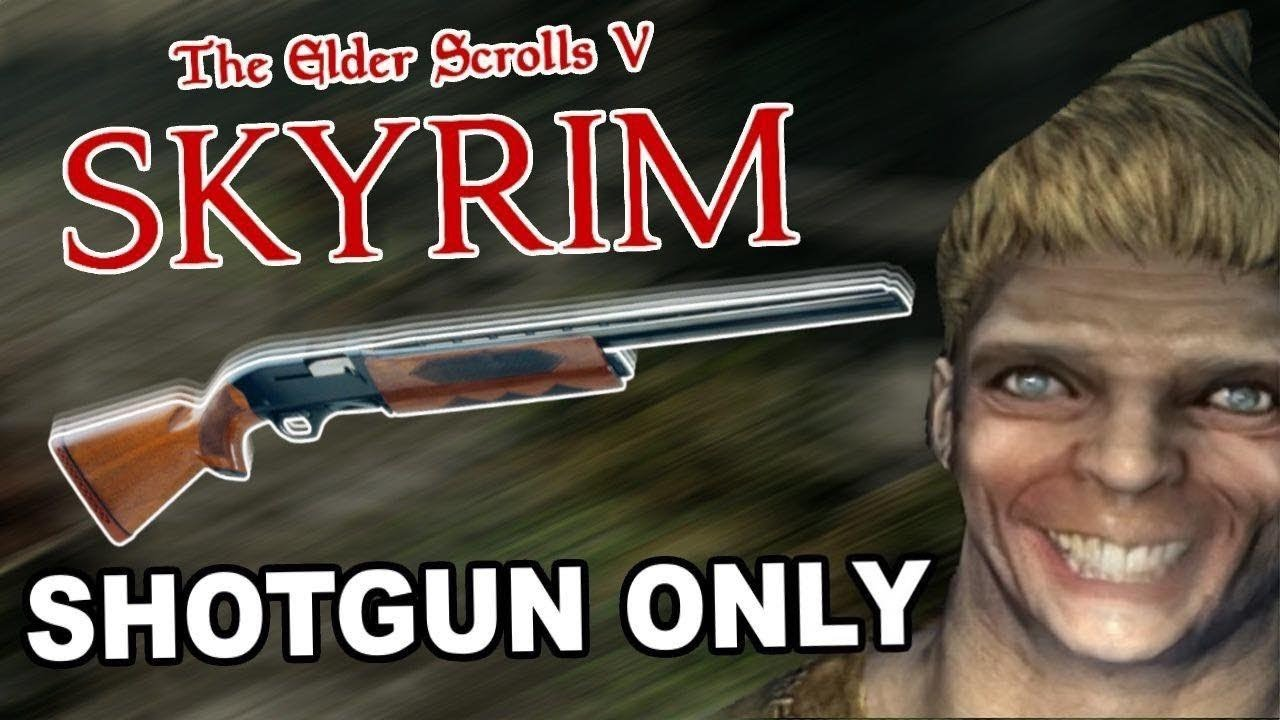 Beating Skyrim With Only A Shotgun thumbnail