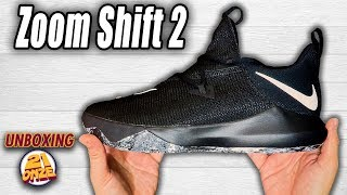 unboxing NIKE ZOOM SHIFT 2 Black / White-Black