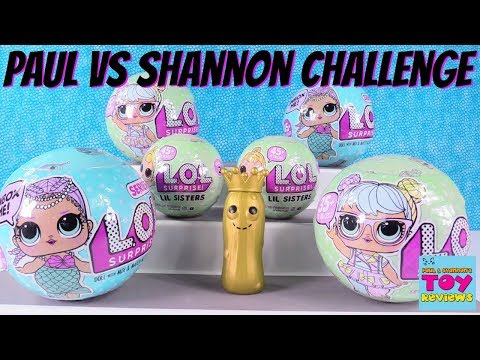 Paul vs Shannon Challenge LOL Surprise Doll Series 1 2 Wave Toy Review | PSToyReviews