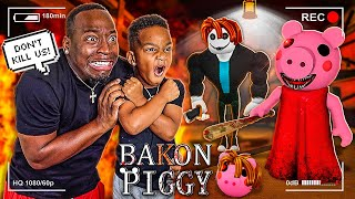 DJ PLAYS ROBLOX BAKON PIGGY WITH THE PRINCE FAMILY!!