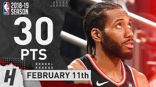 Kawhi Leonard NASTY Highlights Raptors vs Nets 2019.02.11 - 30 Pts, GAME-WINNER!
