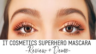 It Cosmetics Superhero Mascara Review + Demo!