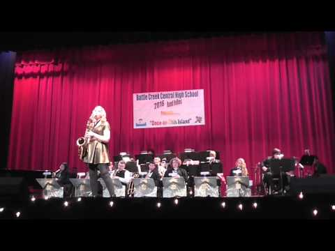 Hannah Jiskra Playing Fever at the 2016 Battle Creek Central High School Band Folles