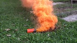 Comet - Orange Signal Smoke Grenade Test