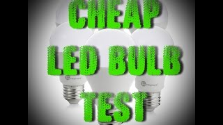 Cheap LED Light Bulb from Ebay TEST and Review