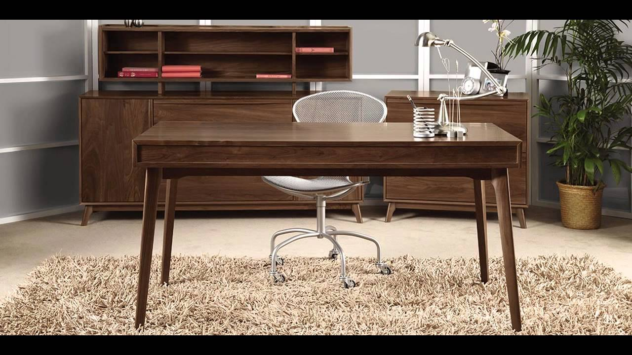 mid century modern office furniture youtube. Black Bedroom Furniture Sets. Home Design Ideas