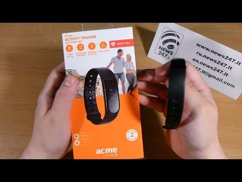 Acme ACT202 išmanioji apyrankė (activity tracker) išpakavimas ir pilniausia apžvalga