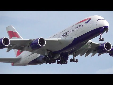 (1080p) 30+ Minutes of Plane Spotting at London Heathrow ● (Inc. 35+ Airlines)