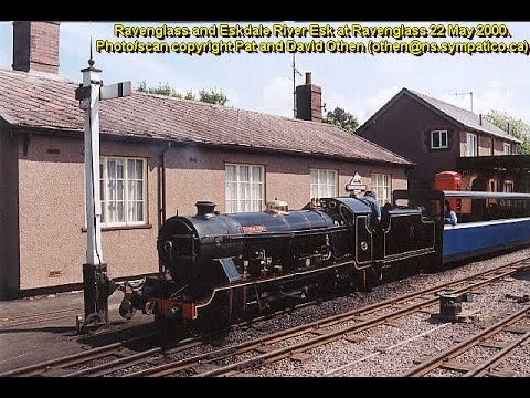 Ravenglass & Eskdale Railway footplate (cab) ride and operations 22 May 2000