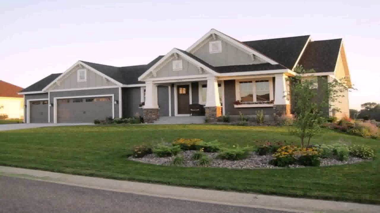 Ranch style house with 3 car garage youtube for 3 car garage square footage