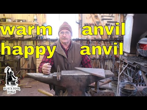 why you should preheat your anvil on a cold winters day