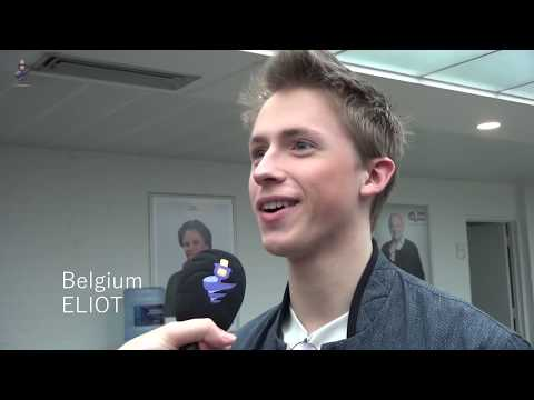 Interview Eliot (Belgium 2019) at Eurovision press conference - Release 'Wake Up'