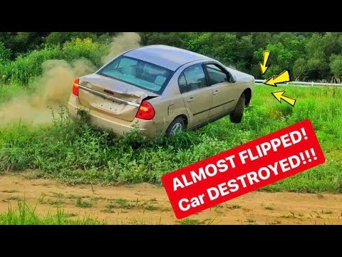 CHEVY Reverse ROCKFORD Over A JUMP! DESTROYED!!!