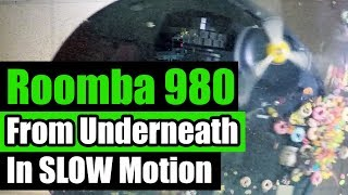 IRobot Roomba 980 - SLOW motion - From Underneath - Big Mess Test