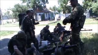 Луганск Ополченцы Мотороллы бой за ДНР ЛНР танки Т-64 БТР