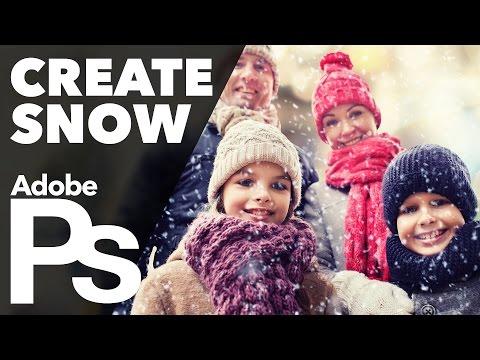 How To Create Snow In Adobe Photoshop (Custom Brush)