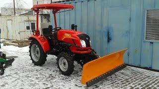 Купить Трактор коммунальный Dongfeng-244 (Донгфенг-244) с отвалом minitrak.com.ua