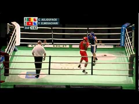 Light Heavy (81kg) SF - Adjoufack (CMR) vs Elmekachari (TUN) - 2012 African Olympic Qualifying Event