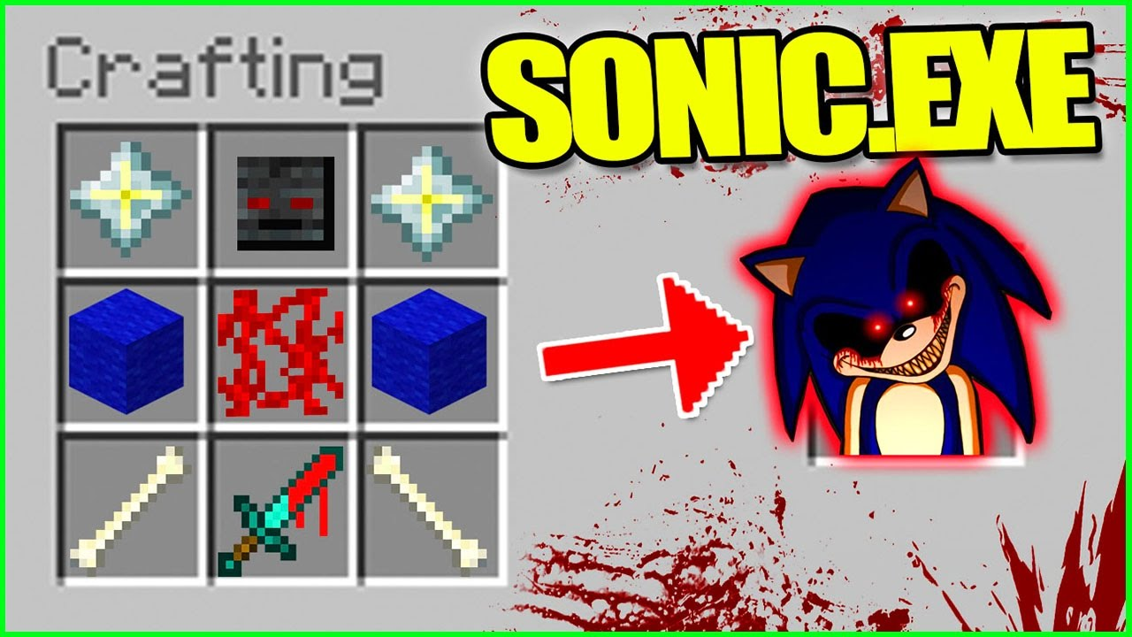 minecraft how to make sonic the hedgehog
