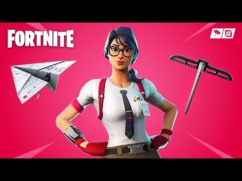 Fortnite *NEW* Nerd Maven Skin & Paper Plane Glider!! *Pro Fortnite Player* (Fortnite Live Gameplay)