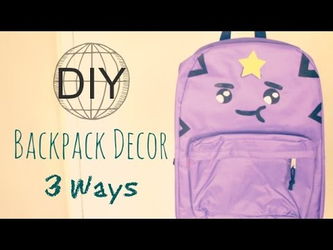 DIY Personalized Backpacks for Back to School 2014 - YouTube 0481a4866ba2a