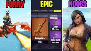 NOUVEAU SEASON 6 WEAPON SKINS - FUNNY vs EPIC vs NOOBS - Moments drôles Fortnite