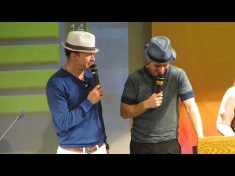 NKOTB Cruise 2014 - NKOTB Feud A - Joey & Donnie being funny & cracking up Jon!