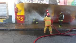 Curicó 2: Incendio de magnitud en Rodríguez