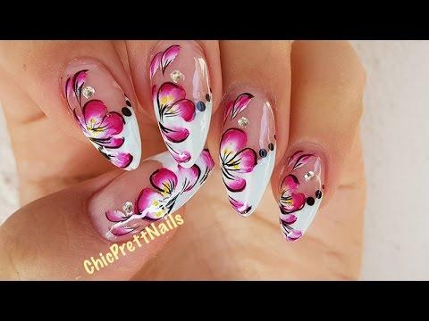 Floral Nail Art Design Tutorial Youtube