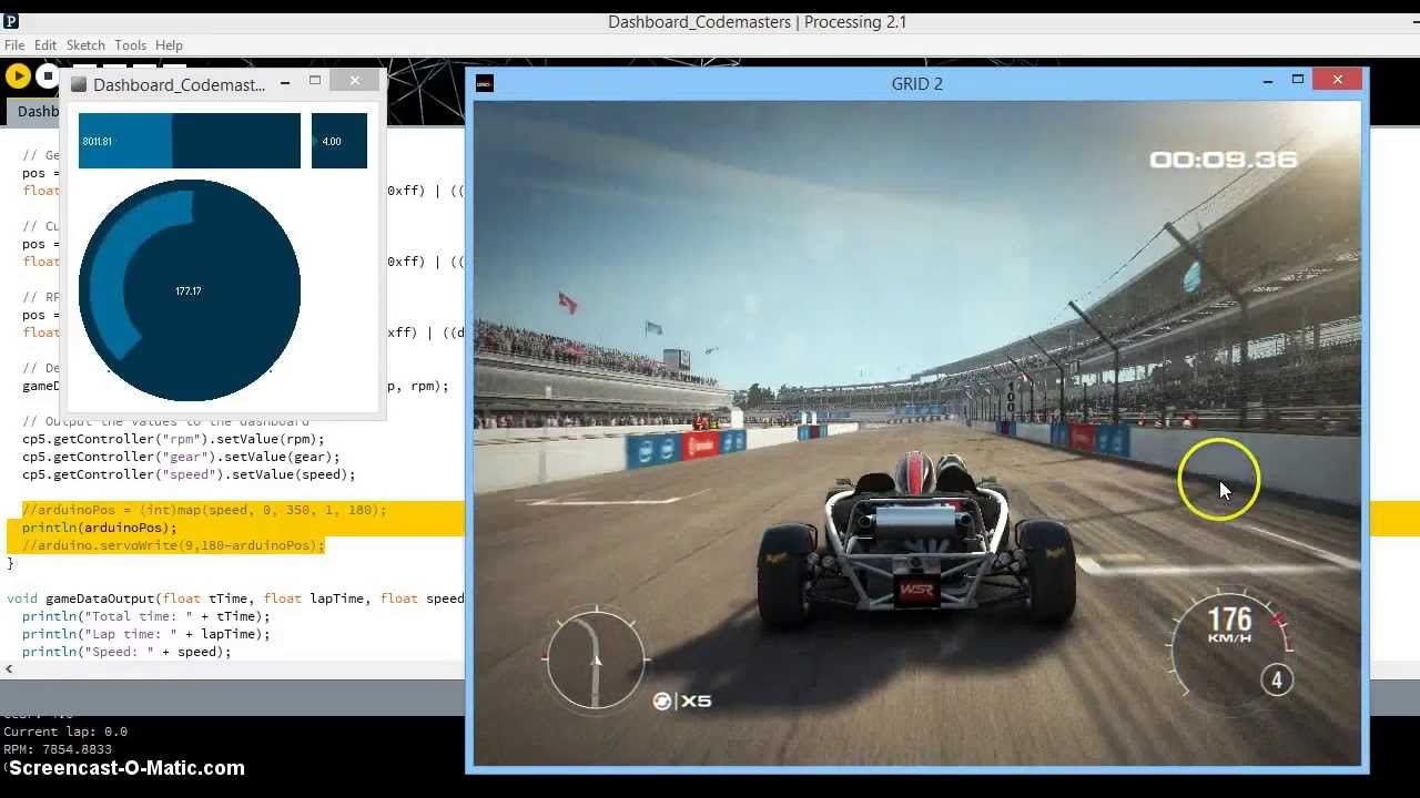 Use game data in processing and arduino youtube