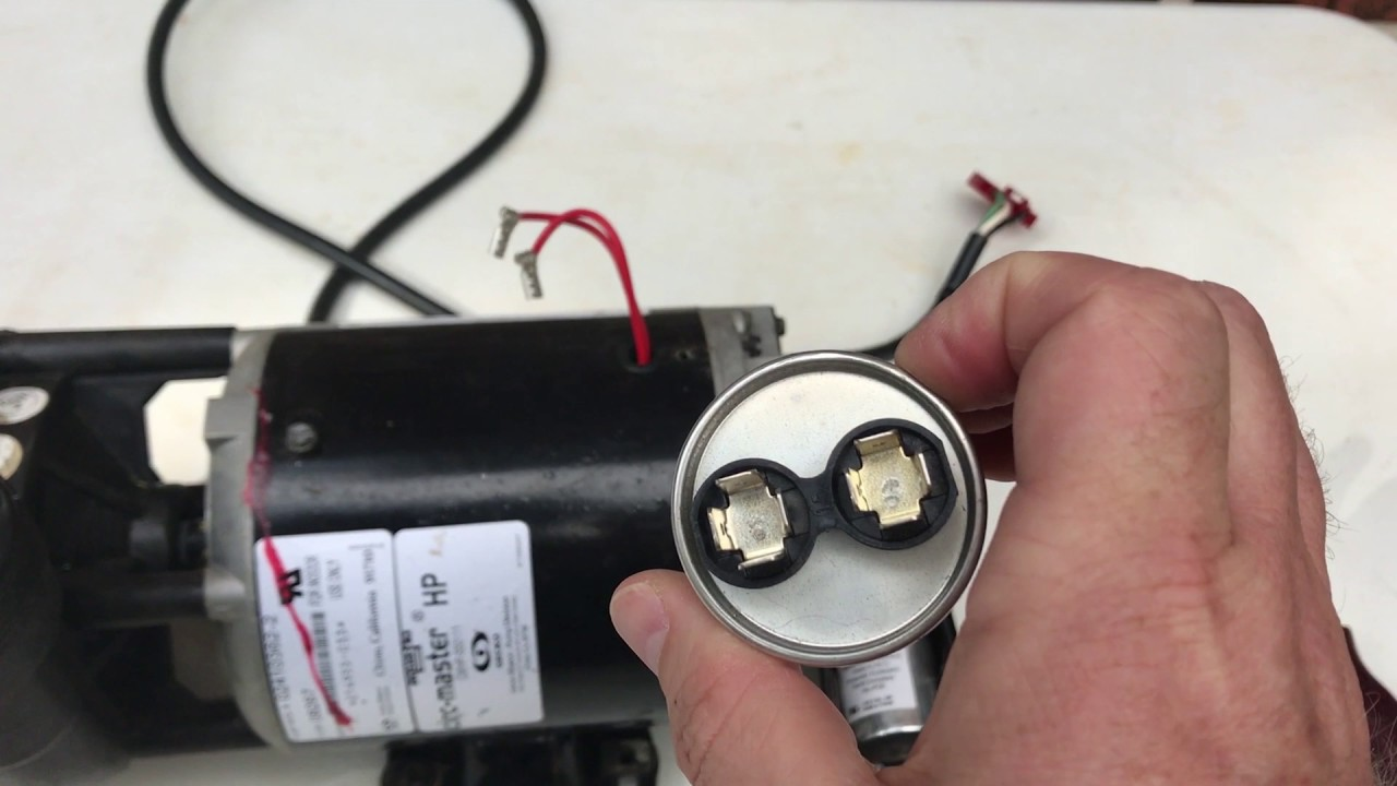 Spa Pump Humming Not Turning - Capacitor Replacement