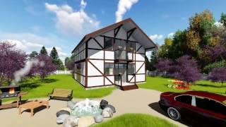 Проект дома в стиле фахверк Fachwerk 134(, 2017-02-08T20:30:54.000Z)