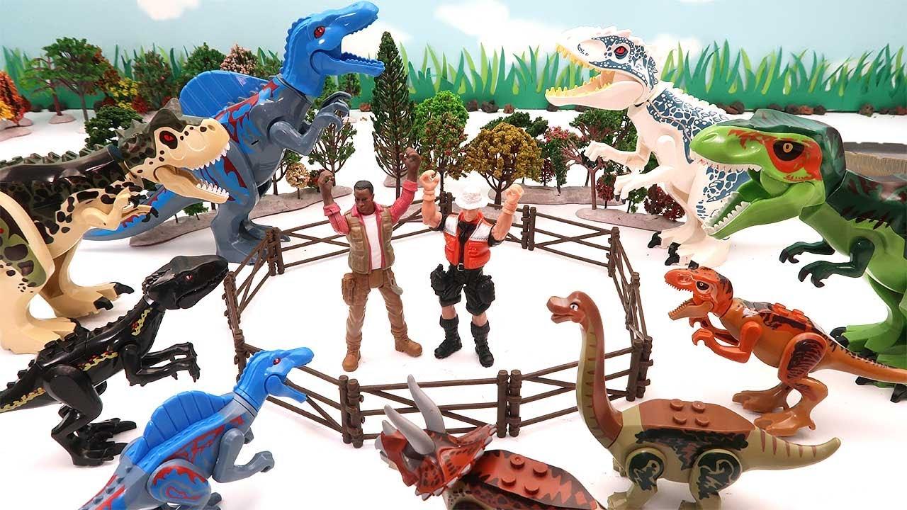 Dinosaur Jungle Zoo - Dinosaur Hunter Battle Movie! Jurassic World Lego Toys For Kids