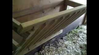 How To Build An Easy, Cheap Manger For Feeding Goats