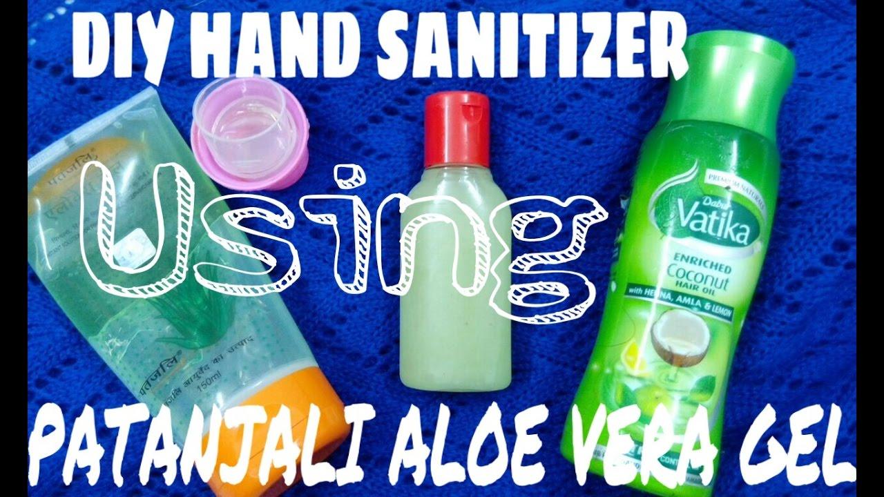 How To Use Patanjali Aloe Vera Gel For Hands Diy Hand Sanitizer