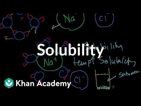 Solubility And Intermolecular Forces | Chemistry | Khan Academy