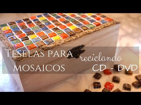 Teselas para mosaicos con CD - DVD
