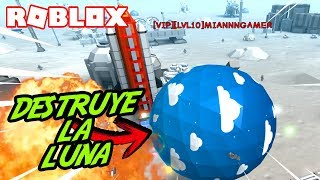 DESTRUCTION a LUNAR BASE in ROBLOX! 💥 Boulder Simulator