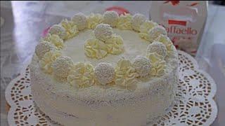 Sade ve Şık bir pasta Raffaello Pastasi findikli enfes keki ve kremasi efsane bir lezzet