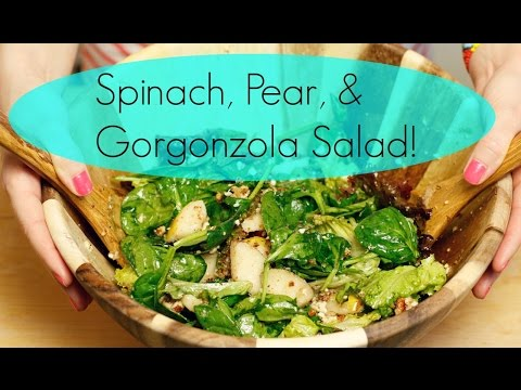 Healthy Salad Idea | Spinach, Pear & Gorgonzola Salad