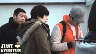 【JustGyuhyun】120202 Incheon Airport and Taipei Airport