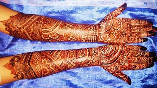 Full Hand Latest Bridal (Wedding, Dulhan) Mehndi Design for Both Hands - Shimmi