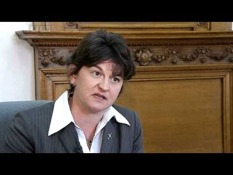 Interview With Economy Minister Arlene Foster