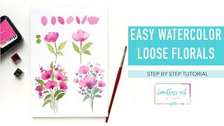 Easy floral watercolor - step by step for beginners