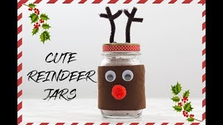 How To Make Adorable Reindeer Jars Christmas Diy